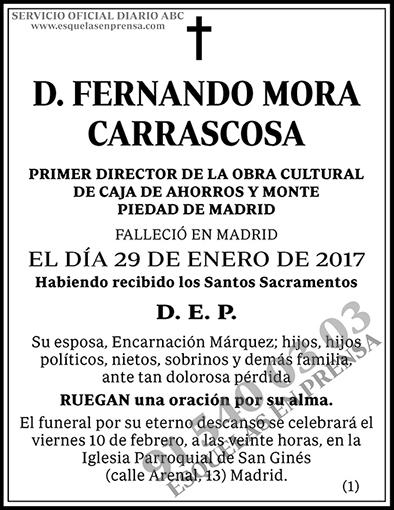 Fernando Mora Carrascosa